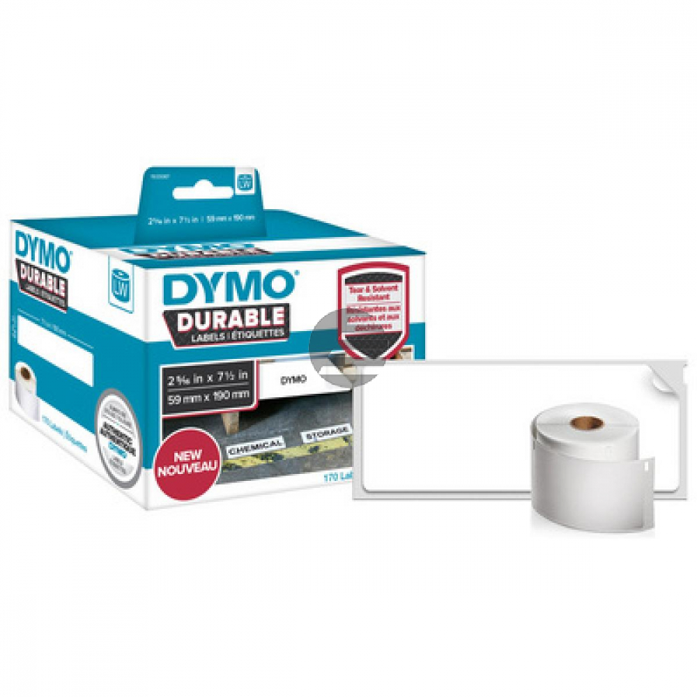 1933086 DYMO 104x159mm WEISS KUNSTSTOFF 1Rl/200Stk LW Adress-Etiketten permanent