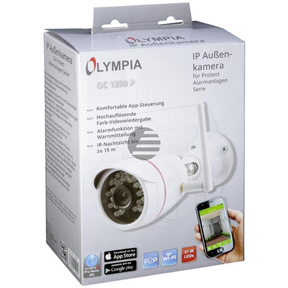 OLYMPIA IP KAMERA OC 1280P OUTDOOR 5929 mit integrierter LAN/WLAN-Einheit