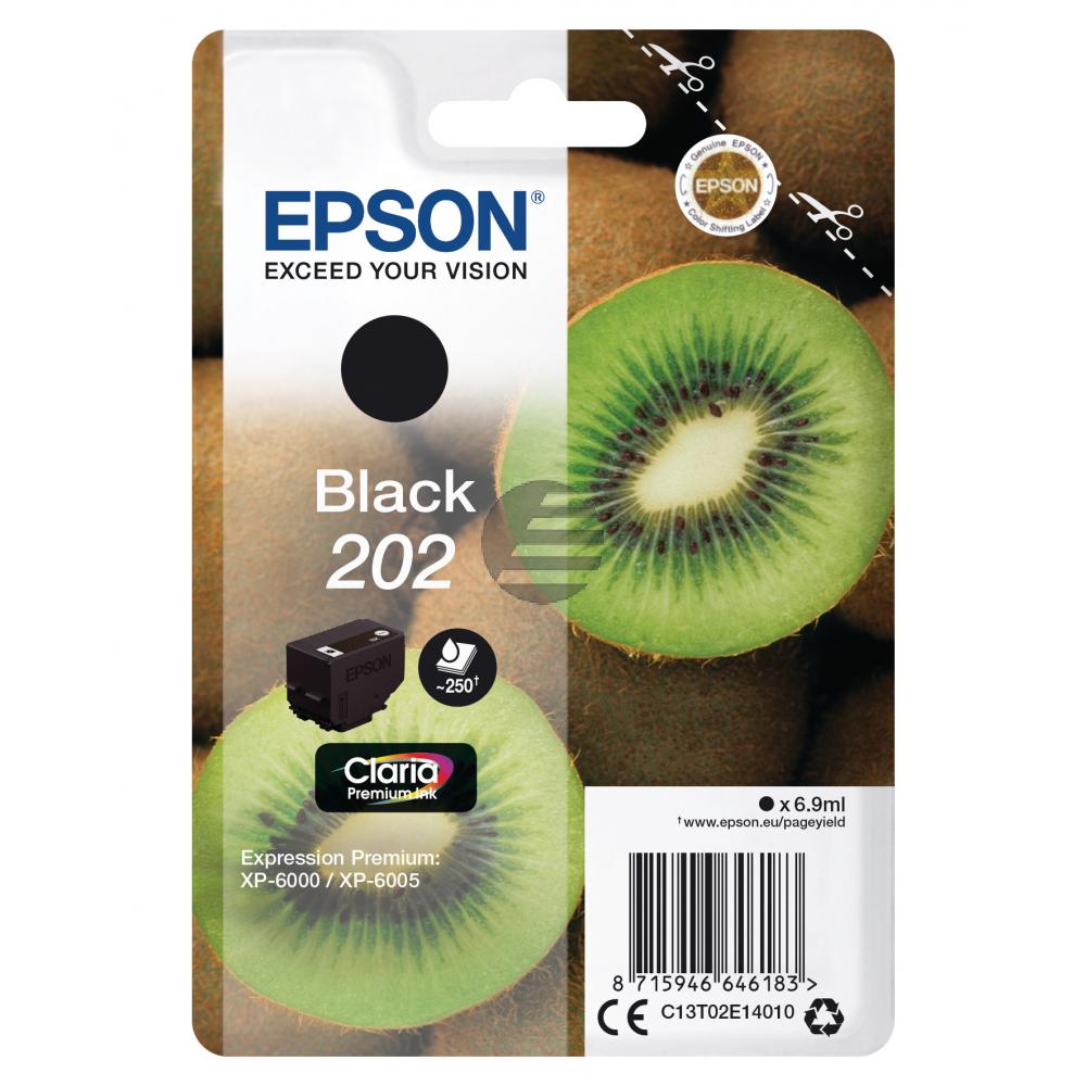 Epson Tintenpatrone schwarz SC (C13T02E14010, 202)