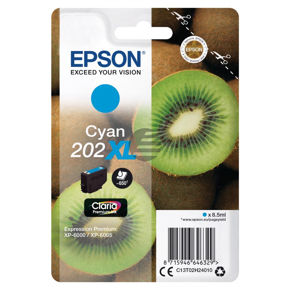 Epson Tintenpatrone cyan HC (C13T02H24010, 202XL)