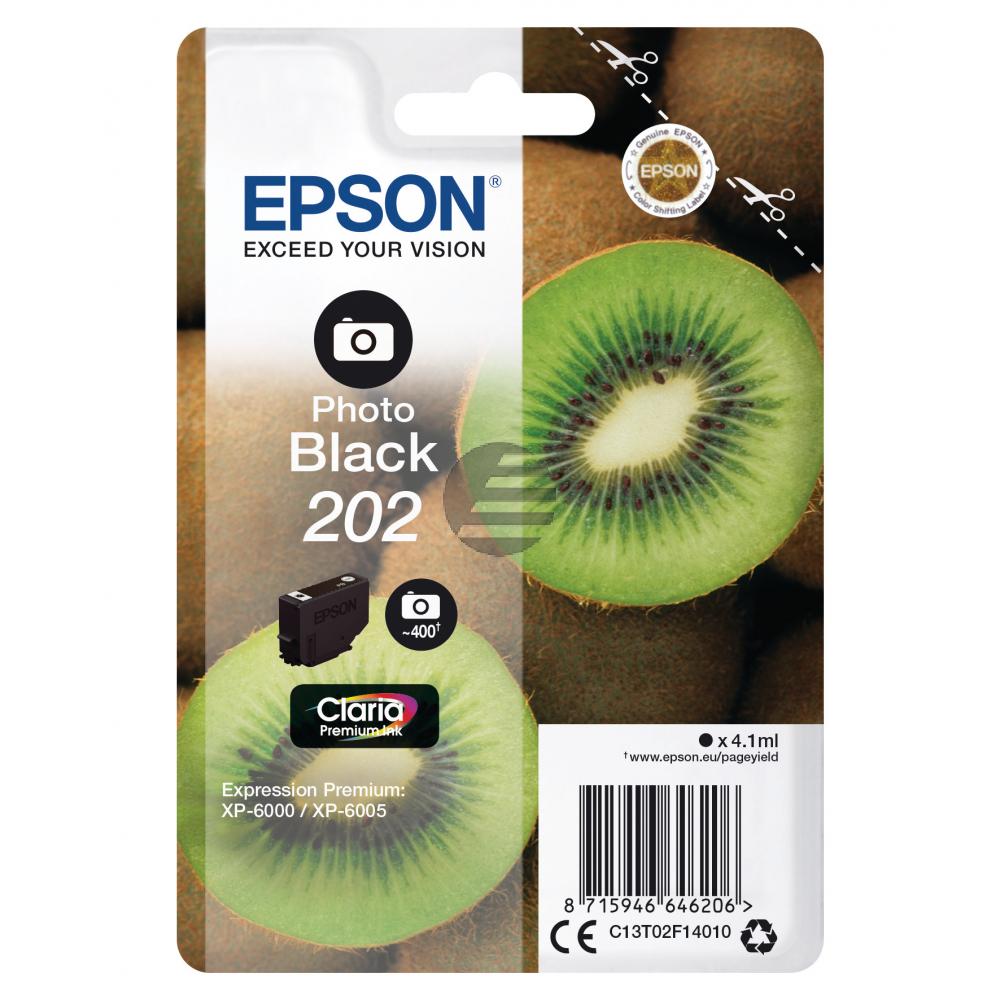Epson Tintenpatrone schwarz photo SC (C13T02F14010, 202)