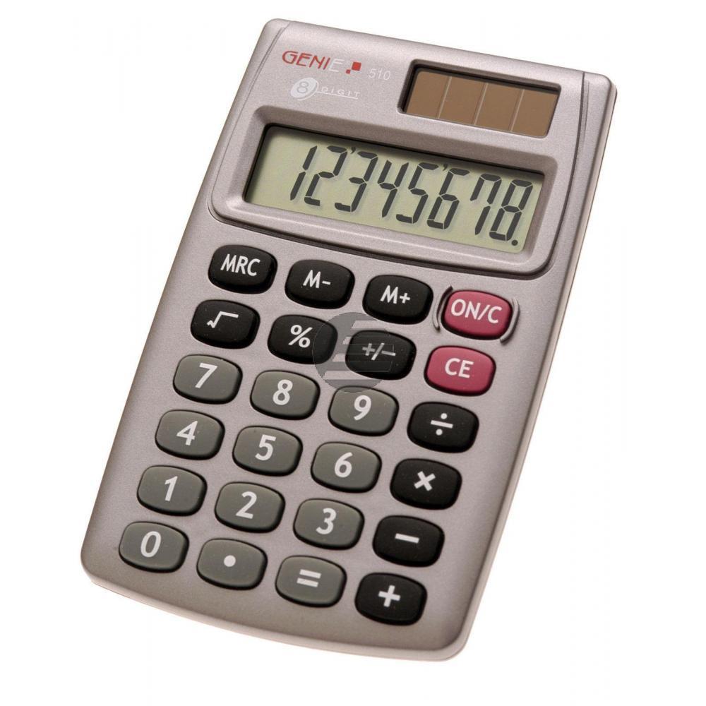 Genie 510 Taschenrechner 8-stellig mit Solarfeld