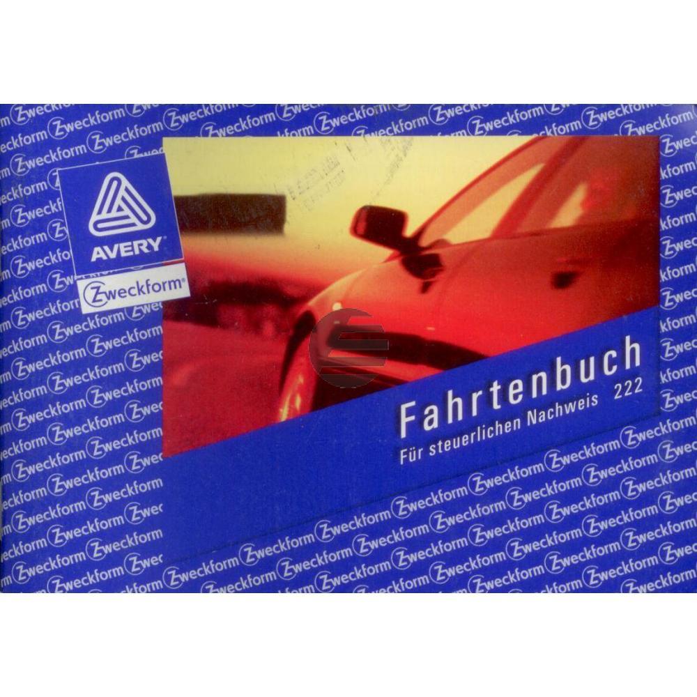 AZ Fahrtenbuch 222 A6 quer weiß Inh.40 Blatt Avery Zweckform