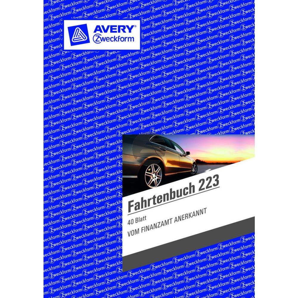 AZ Fahrtenbuch 223 A5 hoch weiß Inh.40 Blatt Avery Zweckform