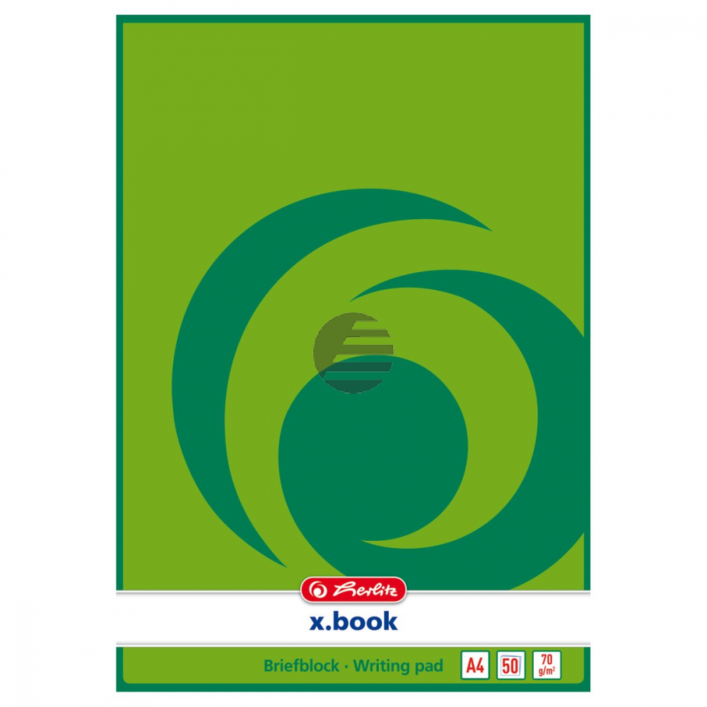 Herlitz Briefblock A4 blanko 50 Blatt 70 g/qm