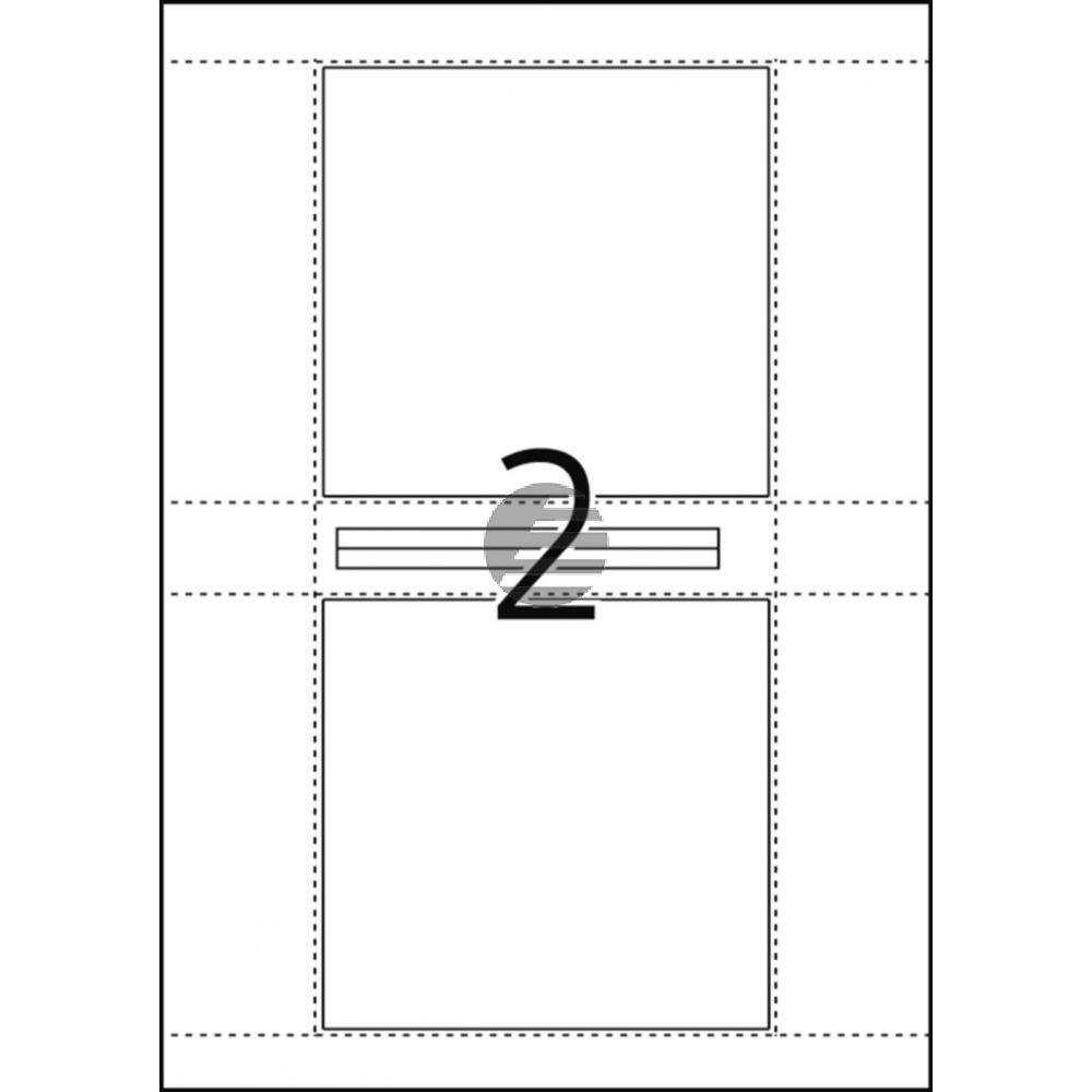 Herma CD-Cover-Etiketten weiß Inh.50 121,5 x 117,5 mm