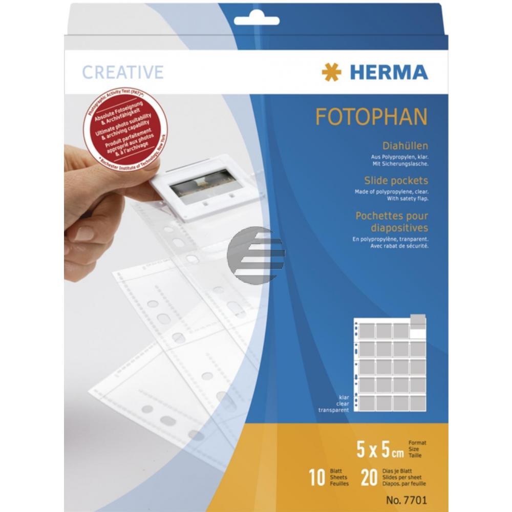 Herma Diahüllen für Kleinbild klar Inh.10 Dia-Format 5 x 5 mm