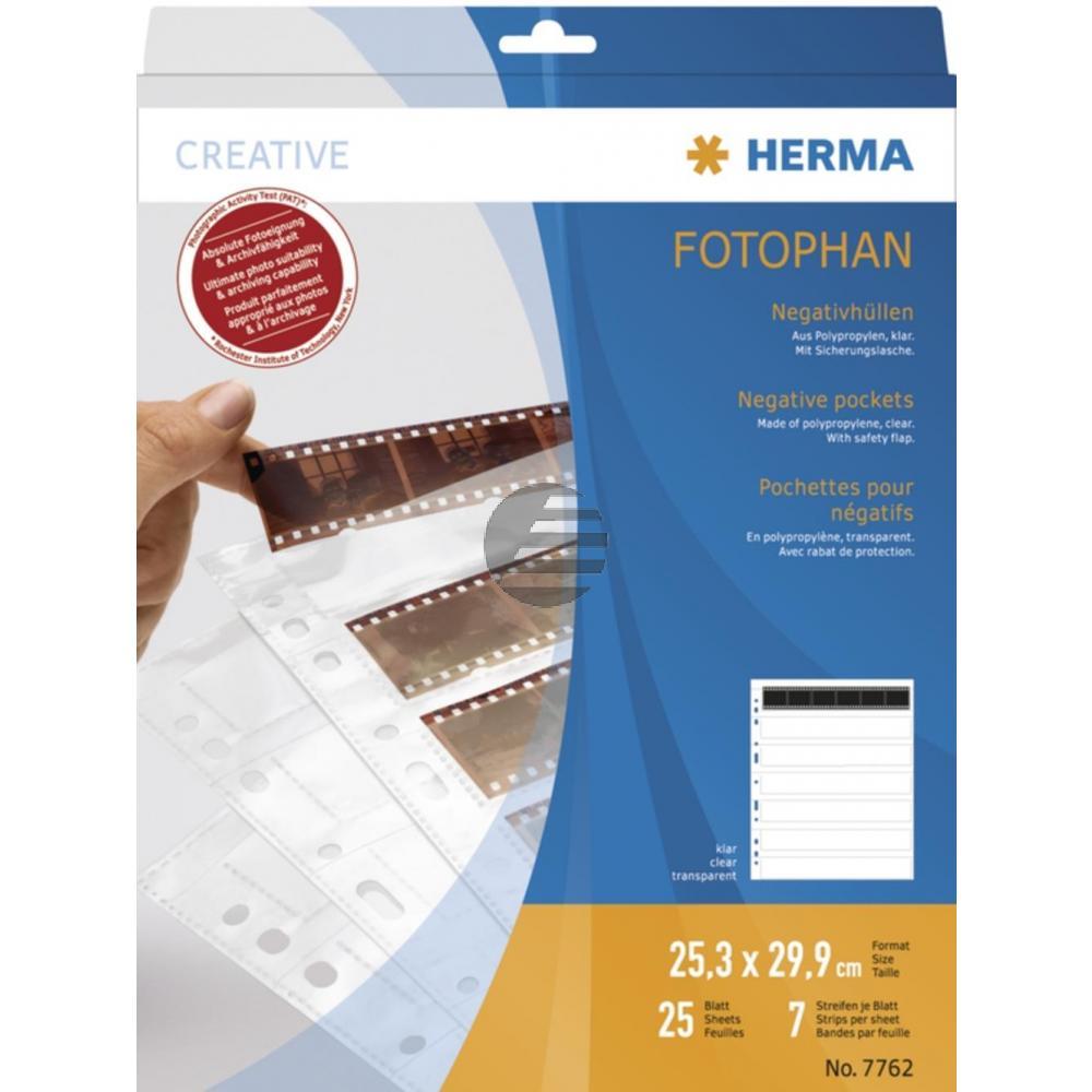 Herma Negativhüllen PP klar für 7 x 6 Streifen Inh.25 St.