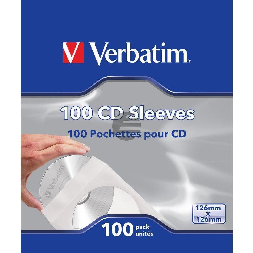Verbatim CD/DVD-Umschläge (100)