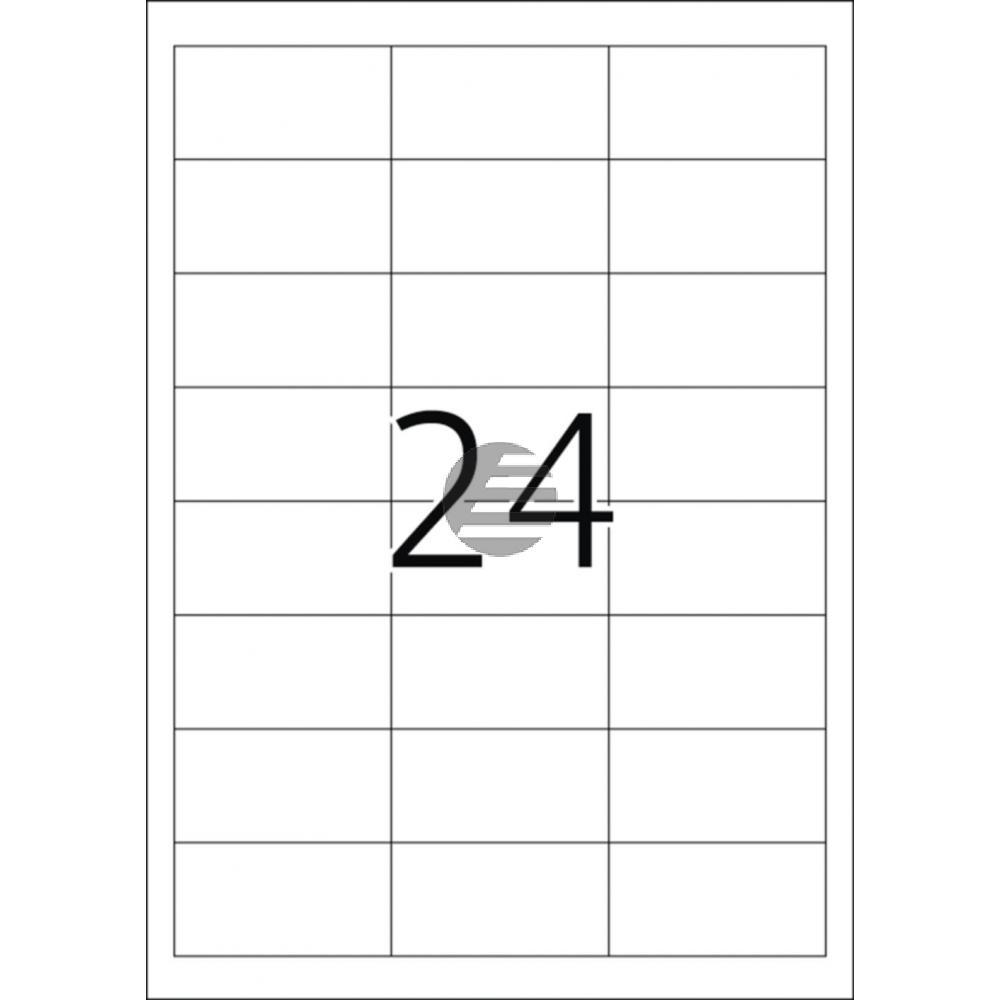 Herma Abdeck-Etiketten weiß 64,6 x 33,8 mm Papier blickdicht Inh.600