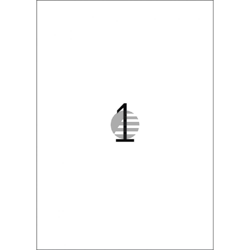 Herma Abdeck-Etiketten weiß 210 x 297 mm Papier blickdicht Inh.25
