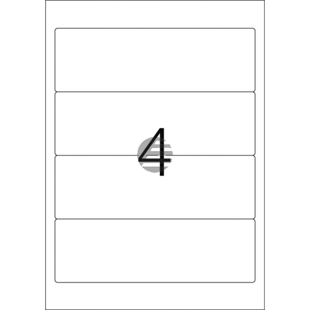 Herma Ordneretiketten A4 blau 192 x 61 mm Papier matt blickdicht