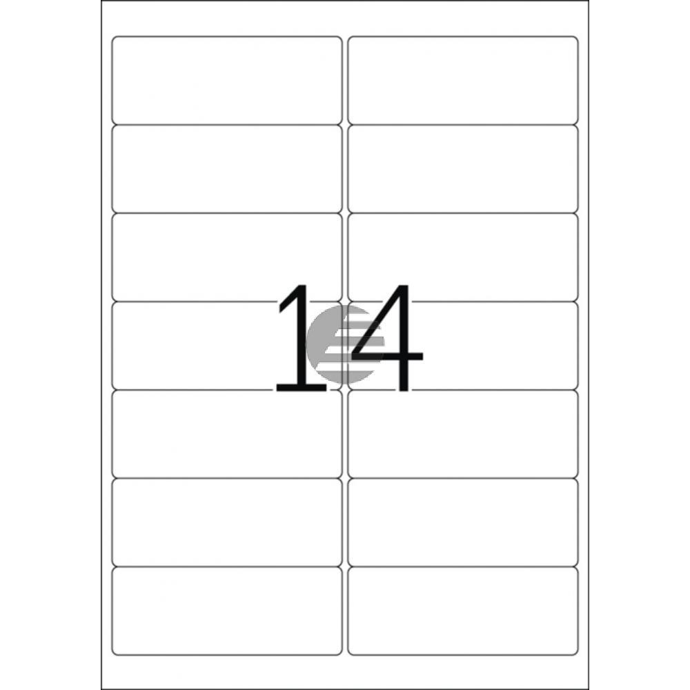 Herma Adressetiketten A4 weiß 99,1 x 38,1 mm ablösbar Papier Inh.1400