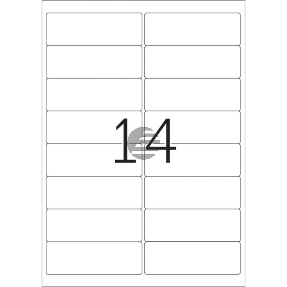 Herma Adressetiketten A4 weiß 99,1 x 33,8 mm Papier matt Inh.400 Premium Etiketten