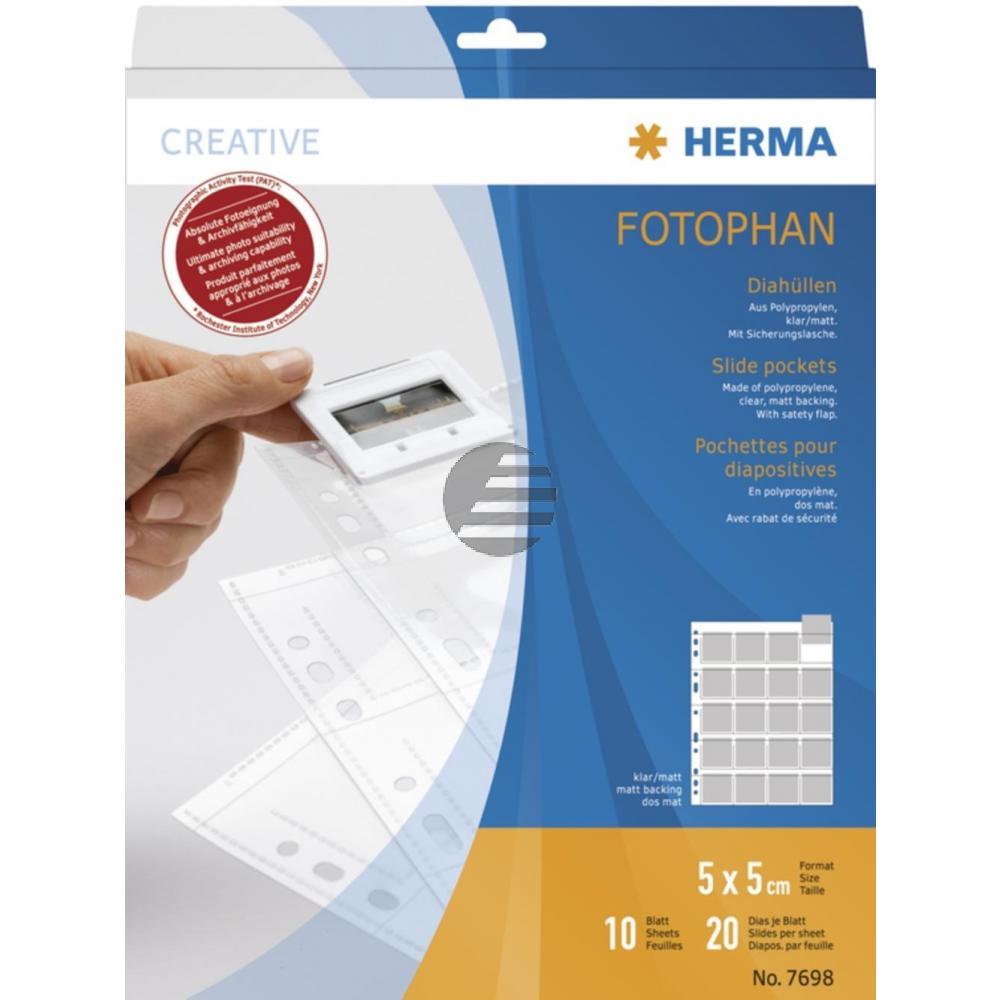 Herma Diahüllen für Kleinbild klar/matt Inh.10 Dia-Format 5 x 5 mm