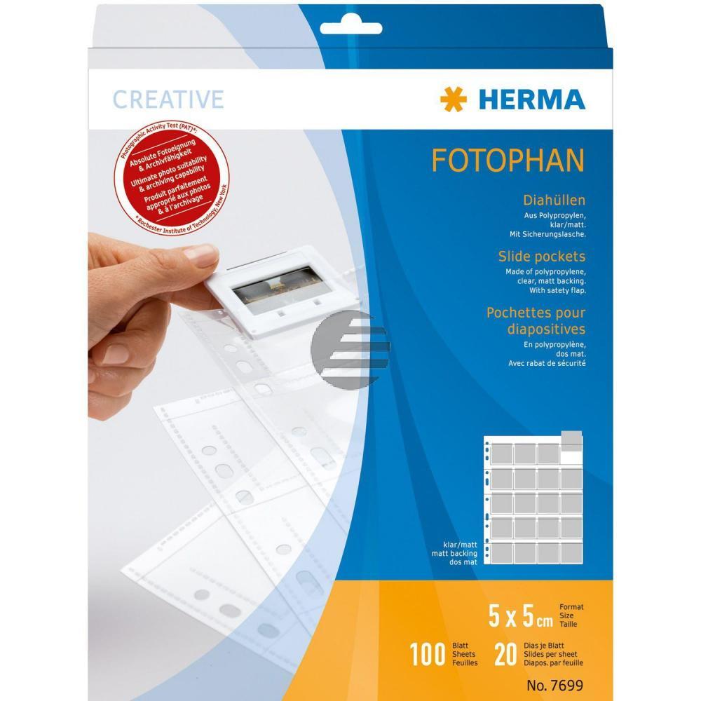 Herma Diahüllen für Kleinbild klar/matt Inh.100 Dia-Format 5 x 5 mm