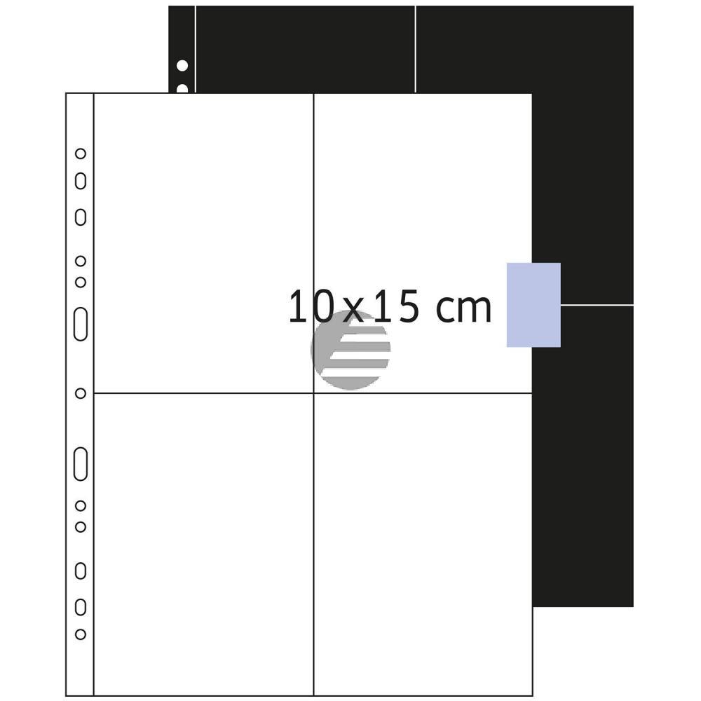 Herma Fotosichthüllen weiß 100 x 150 mm hoch Inh.250 Hüllen