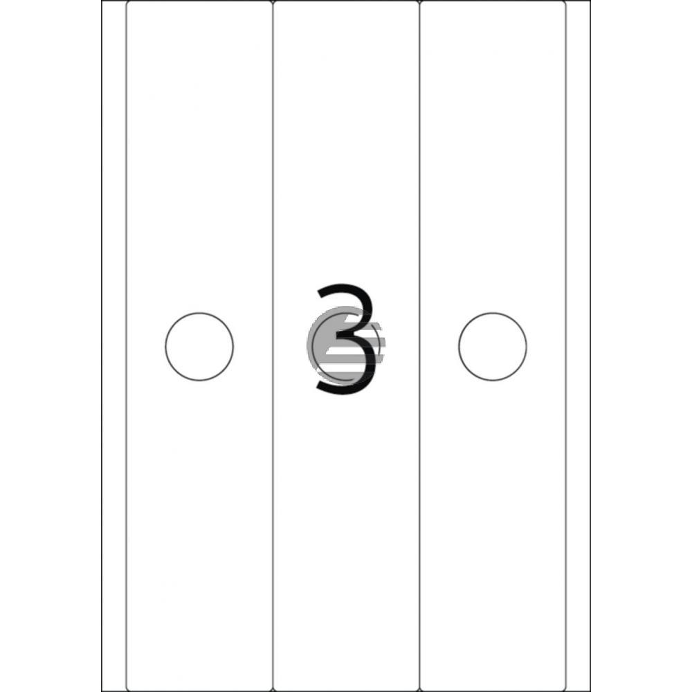 Herma Hängeordneretiketten A4 weiß 63 x 297 mm Papier matt Inh.75 St. blickdicht