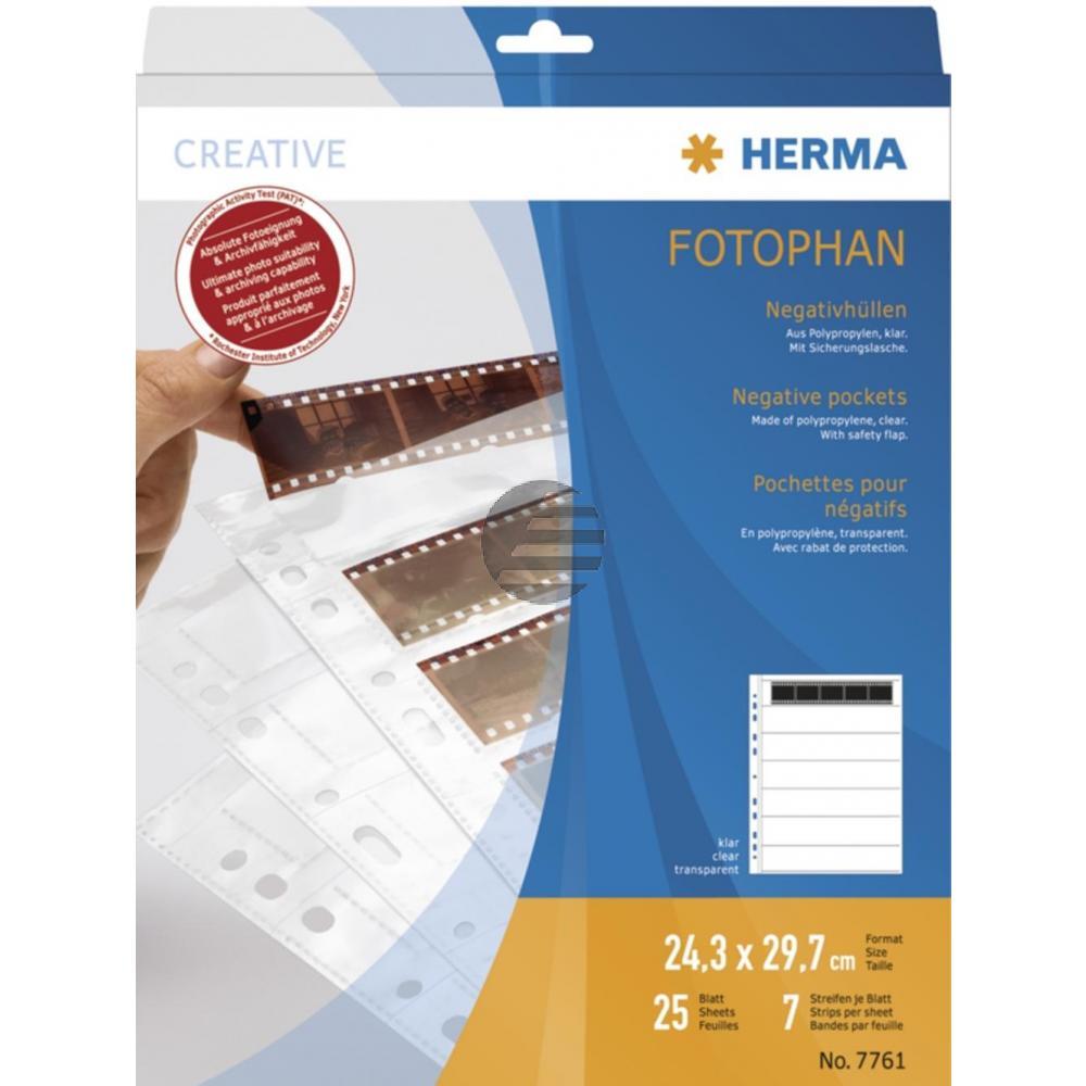Herma Negativhüllen PP klar für 7 x 5 Streifen Inh.25 St.
