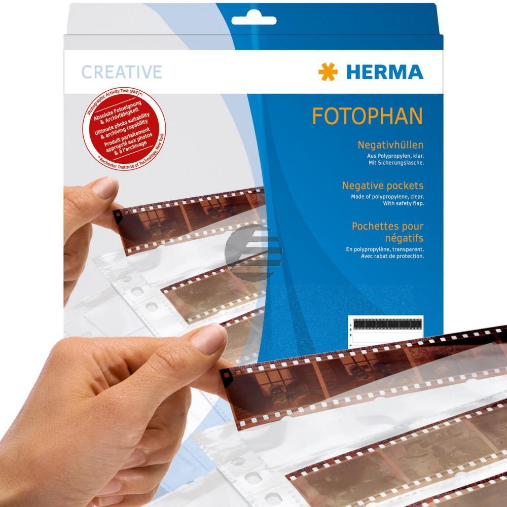 Herma Negativhüllen PP klar 4 Filmstreifen Inh.100 St.