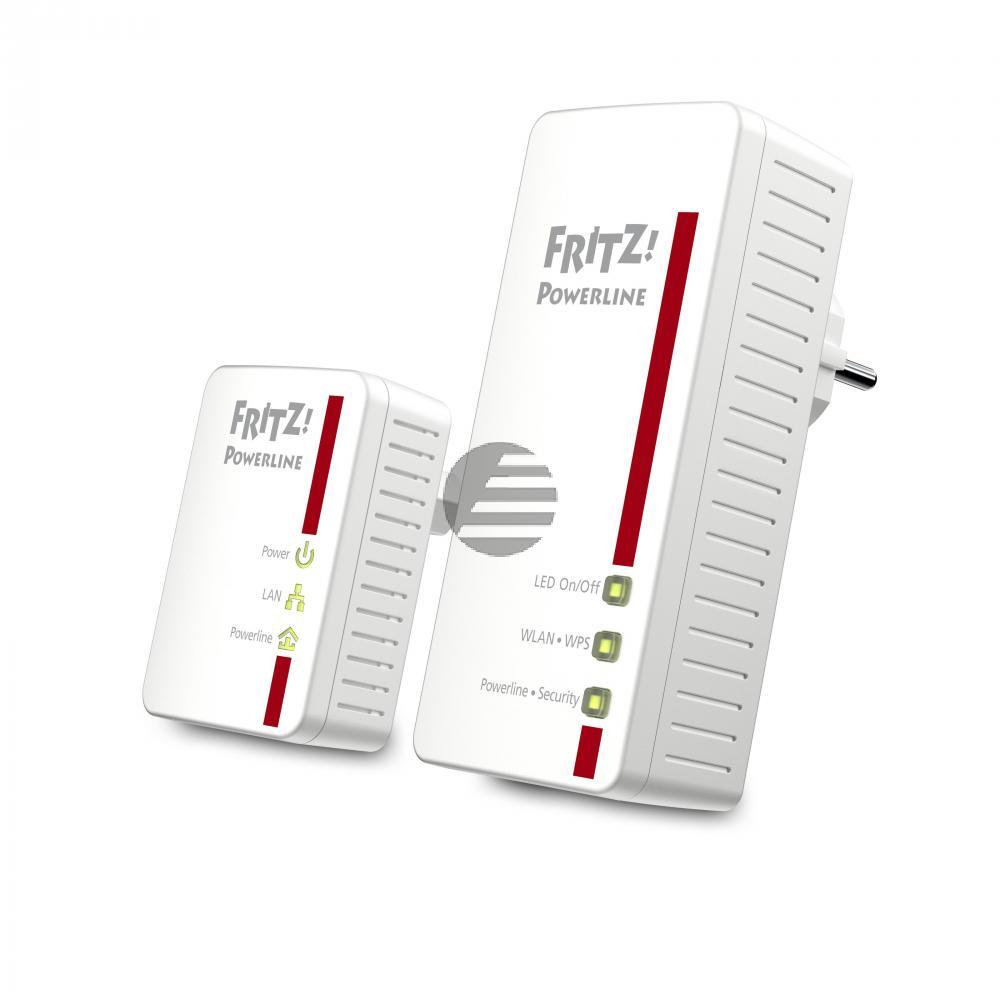 AVM Fritz!Powerline 540 E WLAN für die Steckdose LAN Anschluß 500Mbit/s 128-Bit-AES Verschl.
