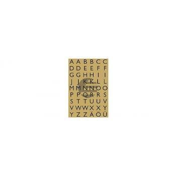 HERMA Buchstaben-Etiketten 13×12mm 4145 gold/schwarz, A-Z 4 Stück