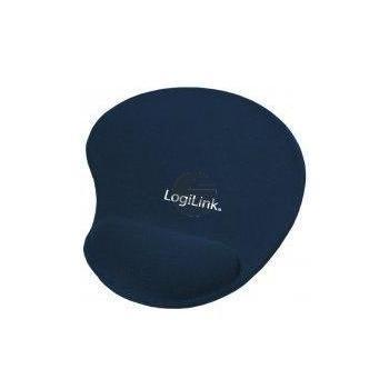 LogiLink Mauspad mit Silikon Gel Handauflage blau