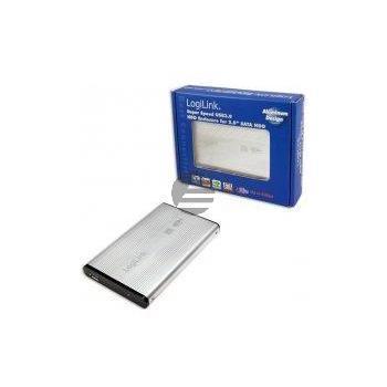 LogiLink Festplattengehäuse 2,5 Zoll S-ATA USB 3.0 Alu, silber