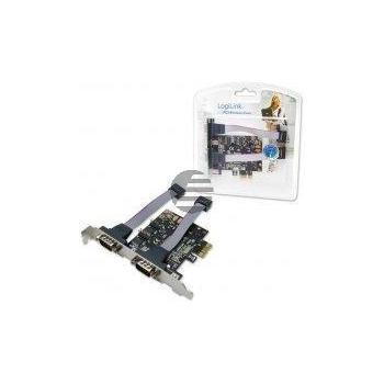 LogiLink PCI Express Schnittstellenkarte Seriell 2x