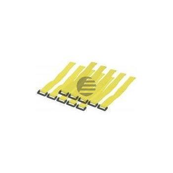 LogiLink Kabelbinder mit Klettverschluss, gelb