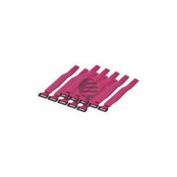 LogiLink Kabelbinder mit Klettverschluss, pink