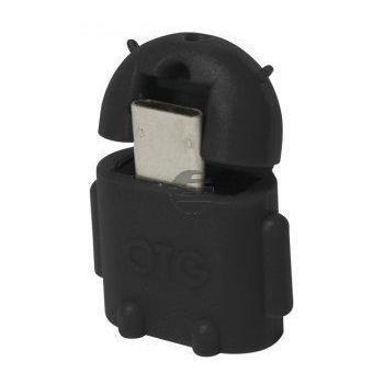 LogiLink USB OTG Adapter Androidmännchen schwarz