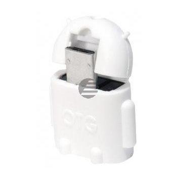 LogiLink USB OTG Adapter Androidmännchen weiß