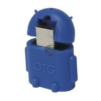 LogiLink USB OTG Adapter Androidmännchen blau