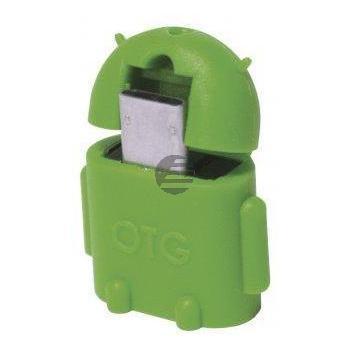 LogiLink USB OTG Adapter Androidmännchen grün