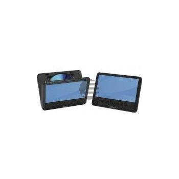 Denver MTW-756TWIN-NB portabler DVD-Player mit 2 7'' Displays Twin-Display