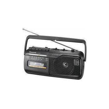 Panasonic RX-M40 Radio Recorder mit Kassette, schwarz