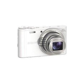 Sony DSC-WX350W Kompaktkamera mit optischem 20-fach-Zoom, weiß