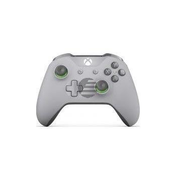 Microsoft Xbox One S Wireless Controller, grau/grün