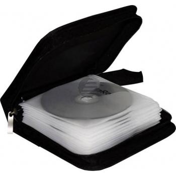 Mediarange CD Wallet black Nylon für 24 Stück (BOX50)