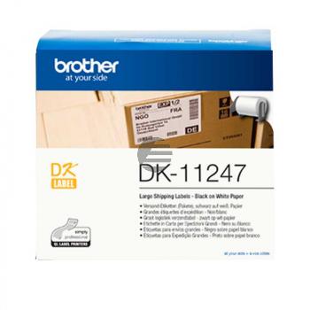 Brother Etiketten schwarz/weiß (DK11247)