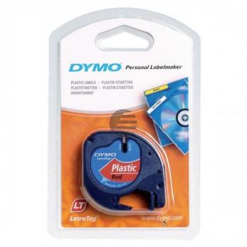 Dymo Schriftbandkassette 12mm rot (S0721630)