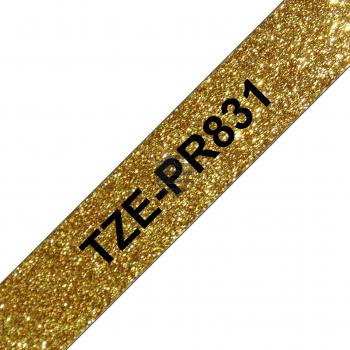 Brother Schriftbandkassette gold/schwarz (TZE-PR831)