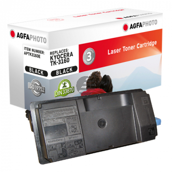 Agfaphoto Toner-Kartusche schwarz (APTK3160E) ersetzt TK-3160