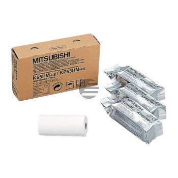 Mitsubishi Thermo-Transfer-Rolle High Density Paper blue tone 4 x 245 Ausdrucke (KP65HM-CE, K65HM)
