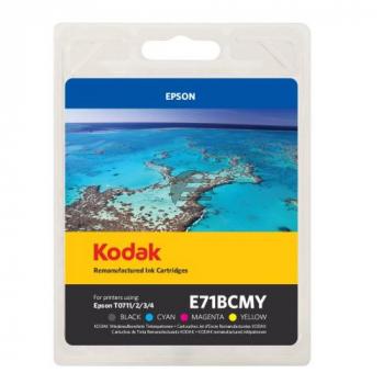 Kodak Tintenpatrone gelb, cyan, magenta, schwarz (185E007121, E71BCMY) ersetzt T0715