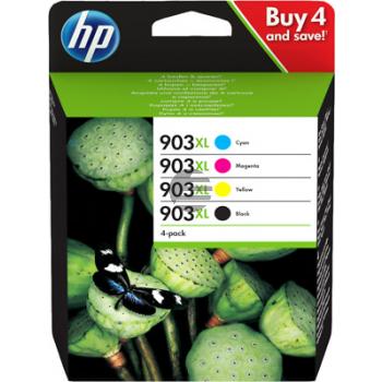 HP Tintenpatrone gelb, cyan, magenta, schwarz (3HZ51AE#301, 903XL)
