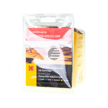 Kodak Tintenpatrone gelb, cyan, schwarz, magenta, photo schwarz (185C052626) ersetzt PGI-525PGBK, CLI-526BK, CLI-526C
