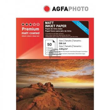 Agfaphoto Inkjetpapier matt 50 Blatt DIN A4 130 g/m² (AP13050A4MNEU)