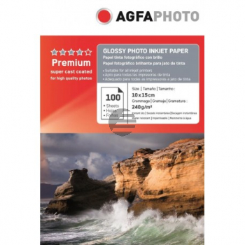 AP240100A6 AP TINTENSTRAHL-FOTOP. 10X15 100Blatt 240gr glaenz. Karton Verpackung